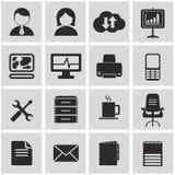 Διανυσματική συλλογή των ζωηρόχρωμων επίπεδων εικονιδίων επιχειρήσεων και χρηματοδότησης Στοκ εικόνες με δικαίωμα ελεύθερης χρήσης