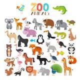 Διανυσματική συλλογή των ζώων ζωολογικών κήπων χαριτωμένο σύνολο κινούμ&epsil Στοκ εικόνες με δικαίωμα ελεύθερης χρήσης
