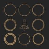 Διανυσματική συλλογή των πλαισίων κύκλων Αλυσίδα και σιρίτι Στοκ φωτογραφία με δικαίωμα ελεύθερης χρήσης