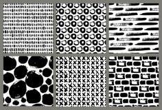 Διανυσματική συλλογή των σχεδίων μελανιού Στοκ Εικόνες