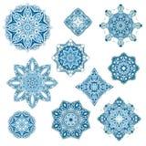 Διανυσματική συλλογή Mandalas απεικόνιση αποθεμάτων