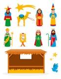 Διανυσματική συλλογή Nativity Στοκ εικόνα με δικαίωμα ελεύθερης χρήσης