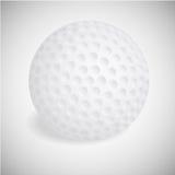 Διανυσματική σφαίρα γκολφ στο λευκό Διανυσματική απεικόνιση