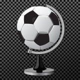 Διανυσματική σφαίρα παιχνιδιών ποδοσφαίρου ως σφαίρα που απομονώνεται στην άσπρη απεικόνιση, διανυσματική απεικόνιση Στοκ Εικόνες