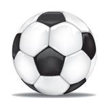 Διανυσματική σφαίρα ποδοσφαίρου ποδοσφαίρου που απομονώνεται Στοκ Εικόνα