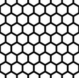 Διανυσματική σύγχρονη άνευ ραφής hexagon, γραπτή κυψελωτή περίληψη σχεδίων γεωμετρίας ελεύθερη απεικόνιση δικαιώματος