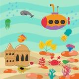 Απεικόνιση του υποβρύχιου κόσμου ελεύθερη απεικόνιση δικαιώματος