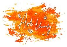 Διανυσματική σύσταση λεκέδων watercolor Επιστολή ψυχολογίας τέχνης η ανασκόπηση απομόνωσε το λευκό Χρωματισμένο χέρι grunge στοιχ Στοκ εικόνες με δικαίωμα ελεύθερης χρήσης