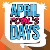 Διανυσματική τέχνη ημερών του ανόητου Απριλίου Στοκ εικόνες με δικαίωμα ελεύθερης χρήσης