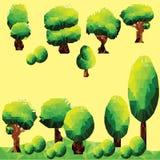 Διανυσματική τέχνη συνδετήρων δέντρων πολυγώνων Στοκ εικόνες με δικαίωμα ελεύθερης χρήσης