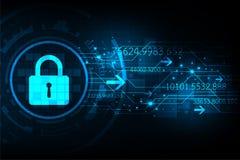 Διανυσματική τεχνολογία υποβάθρου στην έννοια συστημάτων ασφαλείας Στοκ Εικόνες