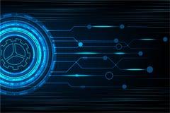 Διανυσματική τεχνολογία κύκλων και ψηφιακό υπόβαθρο τεχνολογίας Στοκ Φωτογραφία