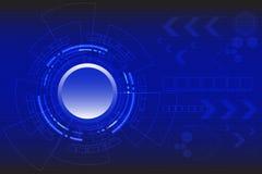 Διανυσματική τεχνολογία κύκλων στο μπλε υπόβαθρο Στοκ εικόνα με δικαίωμα ελεύθερης χρήσης