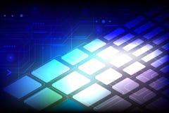 Διανυσματική τεχνολογία με διάφορο τεχνολογικό στο μπλε υπόβαθρο Στοκ φωτογραφία με δικαίωμα ελεύθερης χρήσης