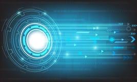 Διανυσματική τεχνολογία με διάφορο τεχνολογικό στο μπλε υπόβαθρο Στοκ εικόνα με δικαίωμα ελεύθερης χρήσης
