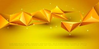 Διανυσματική τρισδιάστατη απεικόνιση γεωμετρική, πολύγωνο, γραμμή, μορφή σχεδίων τριγώνων με τη δομή μορίων στοκ φωτογραφίες