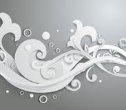 Διανυσματική τρισδιάστατη floral διακόσμηση Στοκ φωτογραφία με δικαίωμα ελεύθερης χρήσης