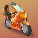 Διανυσματική φουτουριστική μοτοσικλέτα ελεύθερη απεικόνιση δικαιώματος