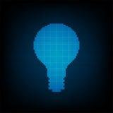 Διανυσματική ψηφιακή λάμπα φωτός τεχνολογίας Στοκ Εικόνες