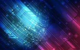 Διανυσματική ψηφιακή έννοια τεχνολογίας υψηλής ταχύτητας σφαιρική, αφηρημένο υπόβαθρο διανυσματική απεικόνιση
