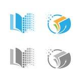 Διανυσματική ψηφιακή εκπαίδευση λογότυπων εικονοκυττάρου Στοκ εικόνα με δικαίωμα ελεύθερης χρήσης