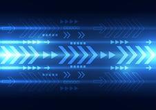 Διανυσματική ψηφιακή τεχνολογία ταχύτητας, αφηρημένο υπόβαθρο Στοκ Εικόνες