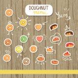 Διανυσματική doughnut απεικόνιση στο ύφος κινούμενων σχεδίων απεικόνιση αποθεμάτων