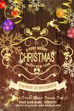 Διανυσματική EPS 10 απεικόνιση για τη Χαρούμενα Χριστούγεννα και καλή χρονιά ελεύθερη απεικόνιση δικαιώματος
