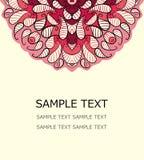Διανυσματική floral κάρτα Στοκ εικόνες με δικαίωμα ελεύθερης χρήσης