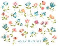 Διανυσματική floral συλλογή Στοκ εικόνα με δικαίωμα ελεύθερης χρήσης