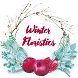 Διανυσματική Floristic σύνθεση Watercolor διανυσματική απεικόνιση