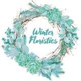 Διανυσματική Floristic σύνθεση Watercolor Στοκ φωτογραφίες με δικαίωμα ελεύθερης χρήσης