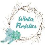 Διανυσματική Floristic σύνθεση Watercolor Στοκ φωτογραφία με δικαίωμα ελεύθερης χρήσης