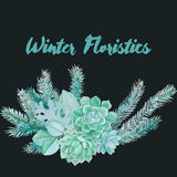 Διανυσματική Floristic σύνθεση Watercolor απεικόνιση αποθεμάτων