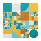 Διανυσματική minimalistic αφίσα με τις απλές μορφές Διαδικαστικός γεωμετρικός Ελβετικό αφηρημένο σχεδιάγραμμα ύφους Εννοιολογικός απεικόνιση αποθεμάτων