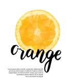 Διανυσματική polygonal αφίσα με το πορτοκάλι Στοκ εικόνες με δικαίωμα ελεύθερης χρήσης