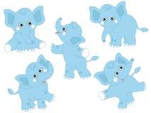 Διανυσματικοί ελέφαντες καθορισμένοι Στοκ Εικόνες