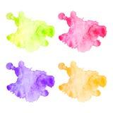 Διανυσματικοί ζωηρόχρωμοι λεκέδες watercolor καθορισμένοι Στοκ εικόνες με δικαίωμα ελεύθερης χρήσης