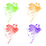 Διανυσματικοί ζωηρόχρωμοι λεκέδες watercolor καθορισμένοι Στοκ εικόνα με δικαίωμα ελεύθερης χρήσης