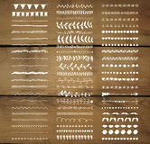 Διανυσματικοί διακοσμητικοί συρμένοι χέρι διαιρέτες, σύνορα γραμμών Στοκ Εικόνες