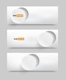 Διανυσματικοί κενοί κύκλοι 20.06.2013 εμβλημάτων Στοκ φωτογραφία με δικαίωμα ελεύθερης χρήσης