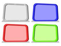 Διανυσματικοί κενοί πίνακες κινούμενων σχεδίων σε 4 χρώματα Στοκ Εικόνα