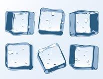 Διανυσματικοί κύβοι πάγου καθορισμένοι Στοκ Εικόνες