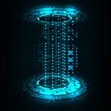 Διανυσματικοί κύκλος τεχνολογίας και υπόβαθρο τεχνολογίας Στοκ Φωτογραφίες