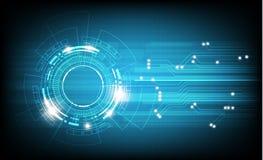 Διανυσματικοί κύκλος τεχνολογίας και υπόβαθρο τεχνολογίας, ψηφιακή επιχείρηση Στοκ Εικόνες