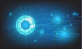 Διανυσματικοί κύκλος τεχνολογίας και υπόβαθρο τεχνολογίας, ψηφιακό επιχειρησιακό υπόβαθρο Στοκ φωτογραφίες με δικαίωμα ελεύθερης χρήσης