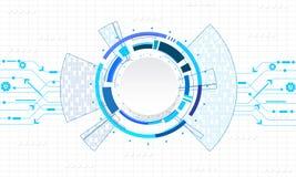 Διανυσματικοί κύκλος τεχνολογίας και υπόβαθρο τεχνολογίας Στοκ Εικόνες