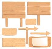 Διανυσματικοί ξύλινοι πίνακες που απομονώνονται Στοκ Εικόνες