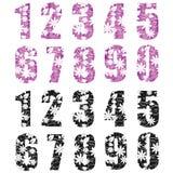 Διανυσματικοί λουλούδια σχεδίων/αριθμοί φύσης για το σχέδιό σας Στοκ Φωτογραφίες