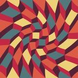 Διανυσματικοί σύγχρονοι άνευ ραφής ζωηρόχρωμοι trippy κύβοι σχεδίων γεωμετρίας, περίληψη χρώματος Στοκ φωτογραφία με δικαίωμα ελεύθερης χρήσης